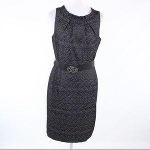 Evan Picone black sleeveless sheath dress 12